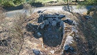 Chantada - Anthropomorphic sarcophagus in Fornas, Chantada