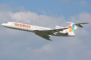 Globus Airlines - A former Globus Tupolev Tu-154M