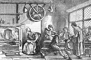 Turnspit dog - Illustration, taken from Remarks on a Tour to North and South Wales, published in 1800, showing a dog at work.