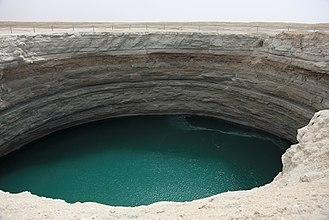 Darvaza - Turquoise Lake Crater, 2010