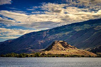 Lake Entiat - Turtle Rock Island, Lake Entiat, Washington