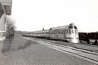 High-speed rail - Burlington Zephyr passenger train