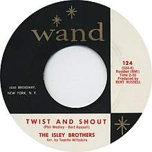 Description de l'image Twist and Shout by The Isley Brothers US vinyl 1962.jpg.