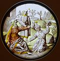 Two Roundels with Scenes from the Life of Abraham, 1. Abraham sends his Servant to find a Wife for Isaac, Southern Netherlands, c. 1500, stained glass - Museum Schnütgen - Cologne, Germany - DSC09860.jpg