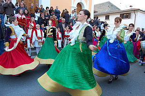 Albanology - Albanian folk dance from Civita, Calabria, Italy