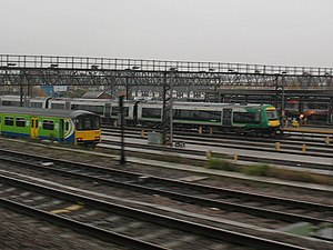 Tyseley TMD - Tyseley traincare depot, showing London Midland second generation Class 150 ''Sprinter'' (left) and the later Class 170 ''Turbostar'' (right)