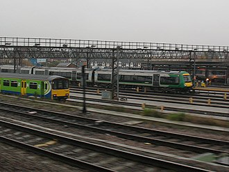 Tyseley TMD - Tyseley traincare depot, showing London Midland second generation Class 150 Sprinter (left) and the later Class 170 Turbostar (right)