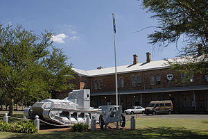 South African Army Armoured Formation - Whippet tank on display at Army College