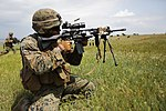 U.S. Marines of BSRF 14-2 conduct live-fire training during exercise Platinum Eagle 14-2 140521-M-DW621-001.jpg