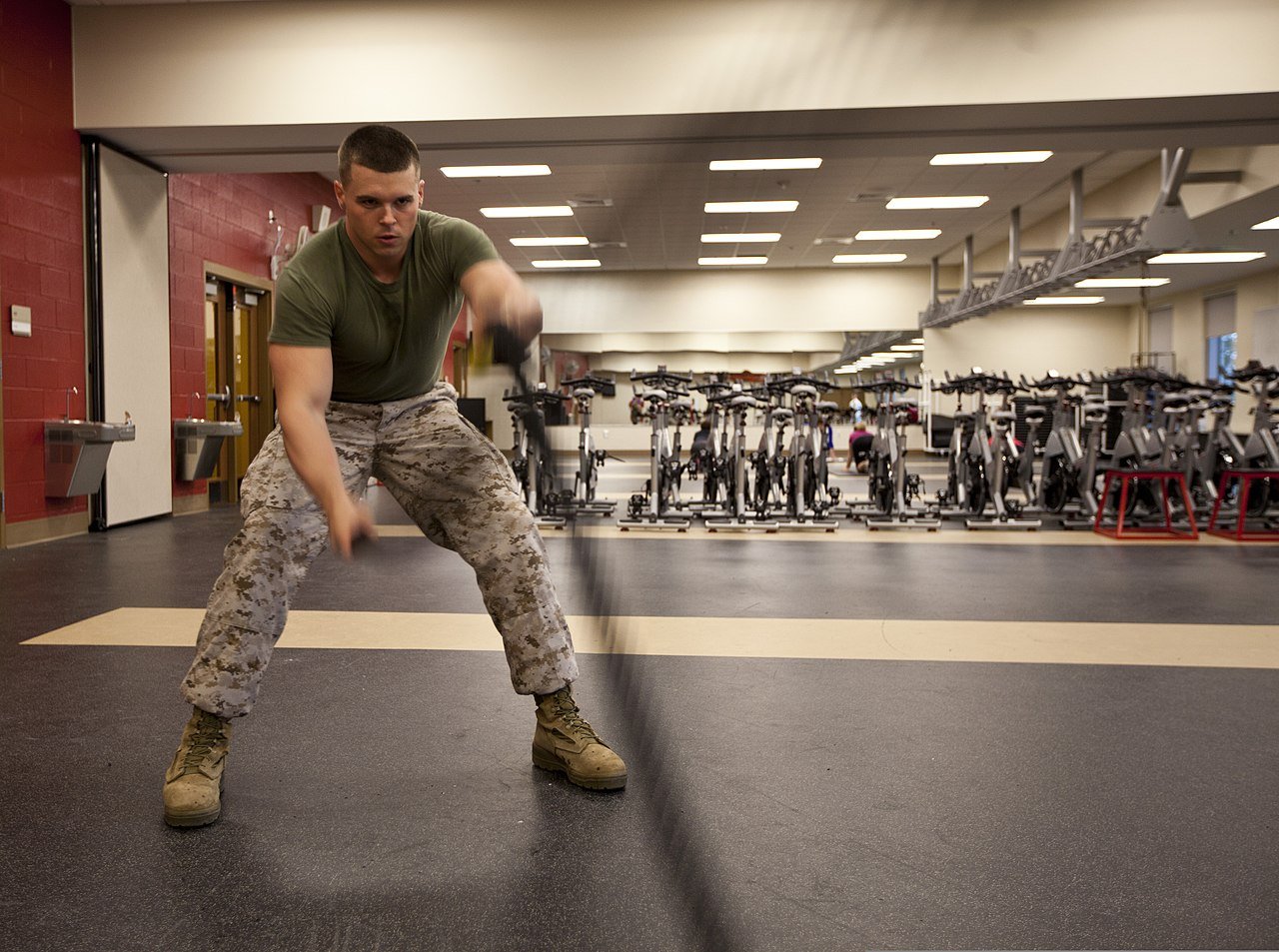 file u s marine cpl joshua caldwell administrative clerk file u s marine cpl joshua caldwell administrative clerk headquarters and headquarters squadron uses the battle ropes as part of the high