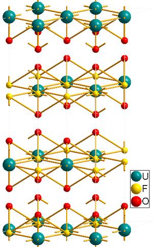 Uranyl fluoride - Image: UO2F2