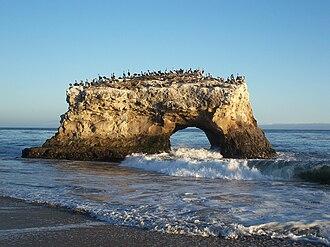 Natural Bridges State Beach - The last remaining natural bridge