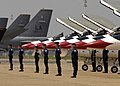 USAF thunderbird pilots lined up beneath F-16.jpg