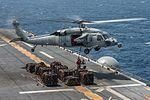 USS Bonhomme Richard, Ammo transfer 150323-N-UF697-157.jpg