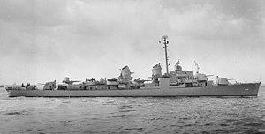 USS Ingraham (DD-694) off New York City on 9 March 1944 (19-N-62588)