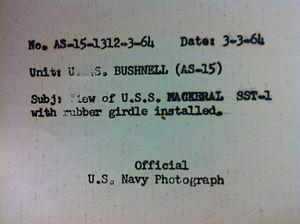 USS Mackerel (SST-1) - Original Navy photo documentation on reverse