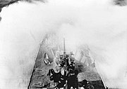 USS PC-552 in heavy seas