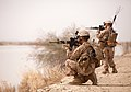 US Marines on patrol near the Helmand River in Helmand province Afghanistan.jpg