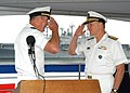 US Navy 041001-N-3725R-001 Rear Adm. Mark P. Fitzgerald relieves Vice Adm. Gary Roughead as Commander Second Fleet-NATO Striking Fleet Atlantic during a change of command ceremony.jpg