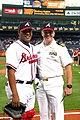 US Navy 050525-N-9907G-004 Commanding Officer, USS Georgia (SSGN 729), Cmdr. Rod Hutton, poses with Atlanta Braves catcher Brayan Pena.jpg