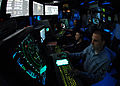 US Navy 060505-N-9079D-025 Air Traffic Controller 3rd Class David McKeehe works approach controller in Carrier Air Traffic Control Center (CATTC).jpg