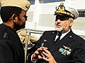US Navy 081011-N-5758H-065 Italian navy Vice Adm. Giuseppe Lertora speaks with Vice Adm. Mel Williams Jr.jpg