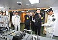 US Navy 090420-N-8273J-086 Chief of Naval Operations (CNO) Adm. Gary Roughead, middle, tours the bridge of the People's Liberation Army Navy Destroyer Luyang 2 while visiting with senior PLA naval leadership in Qingdao, China.jpg