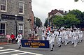 US Navy 090614-N-1928O-138 Sailors from USS Constitution march through the streets of Charlestown followed by Navy Band Northeast during the Bunker Hill Day parade.jpg
