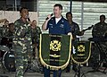 US Navy 090624-N-1722M-730 Musician 1st Class Danny McGowan, assigned to the U.S. 7th Fleet Band, sings a Malaysian ballad with Malaysian Army Sgt. Nor Azlan and the Malaysian Armed Forces.jpg