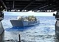 US Navy 100920-N-2218S-004 A landing craft utility departs the well deck of the amphibious assault ship USS Essex (LHD 2).jpg