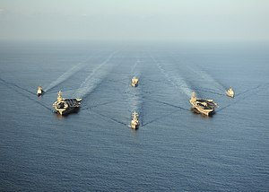 Carrier Strike Group 9 - Task Force 50 underway in the Gulf of Oman (23 November 2010)