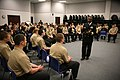 US Navy 110321-N-YM440-089 Rear Adm. Arthur J. Johnson, commander of Naval Safety Center, speaks with Navy and Air Force Junior ROTC students at Pe.jpg