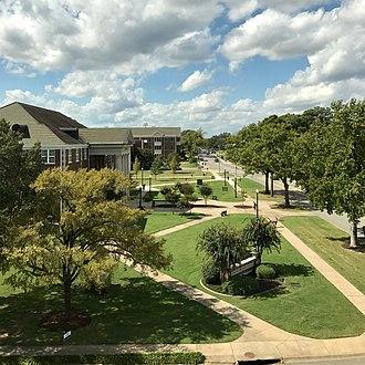 Conway, Arkansas - View of UCA along Bruce Street.