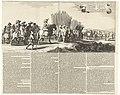 Uittocht van het Spaanse leger uit Maastricht, 1632 (platen 5 en 6) Discessus Hispanici Praesidii Trajecti ad Mosam Ao. 1632. Die 23 Augusti (titel op object) Kort en bondigh verhael van den geluckigen op-tocht des Leg, RP-P-OB-81.341C.jpg