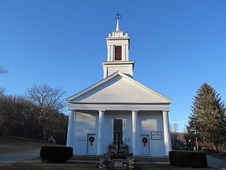 Ashford, Connecticut - United Baptist Church in the Warrenville section of Ashford