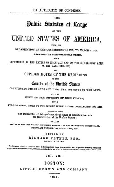 File:United States Statutes at Large Volume 8.djvu