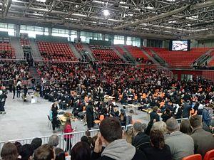 University of Zenica - University of Zenica graduate promotion in Arena Zenica in October 2013.