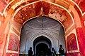 Upward view of Jahangir tomb entrance.jpg