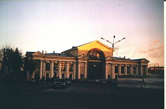 Riihimäki–Saint Petersburg railway - Modern Vyborg station in 2006