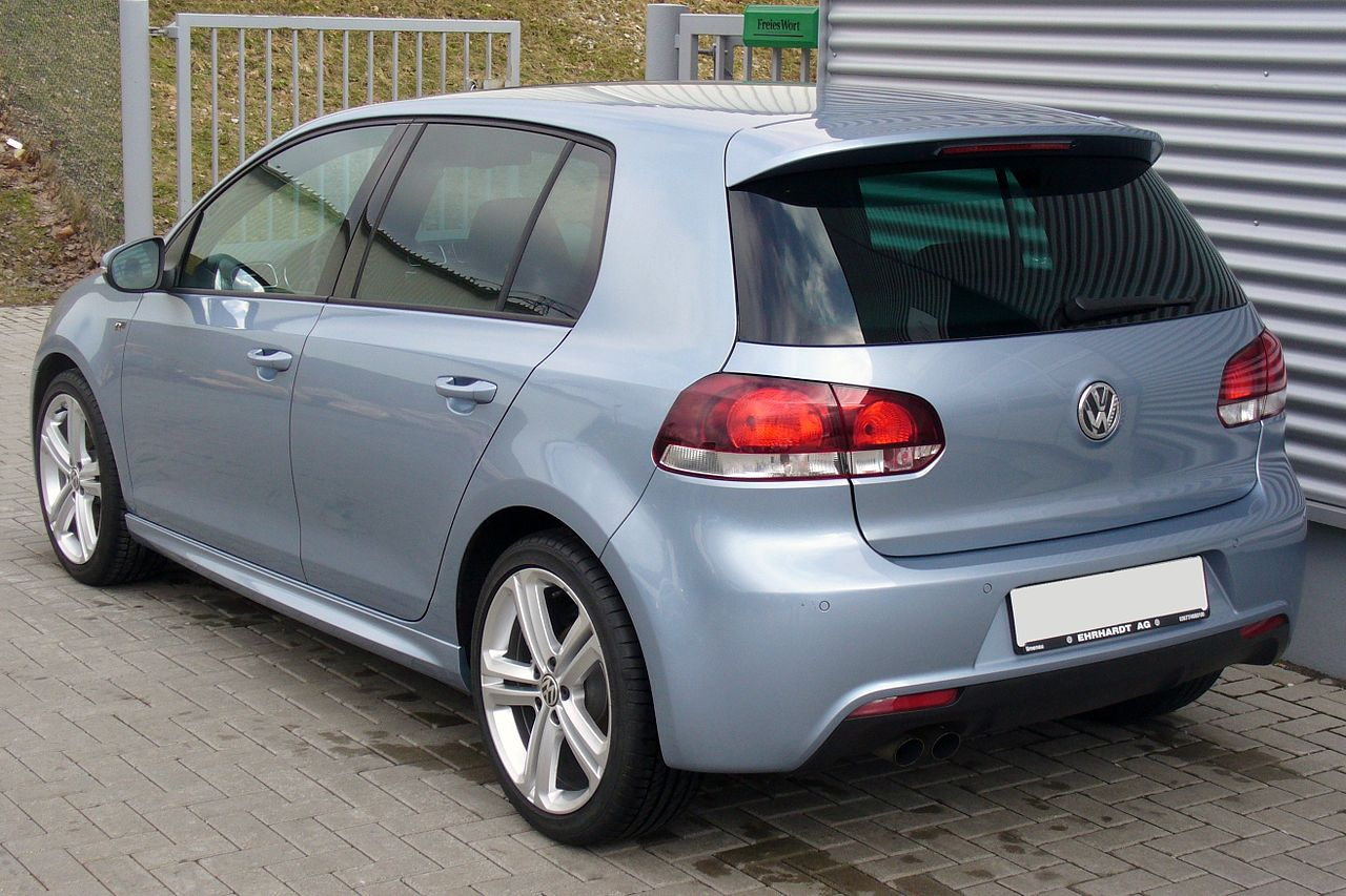 file vw golf vi 1 4 tsi dsg highline r line sharkblue heck jpg wikimedia commons. Black Bedroom Furniture Sets. Home Design Ideas