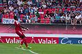 Valais Cup 2013 - OM-FC Porto 13-07-2013 - Brice Samba tirant un 6 mètres 3.jpg