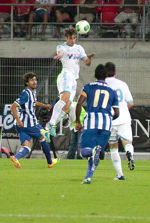 Baptiste Aloé - Aloé in action during the 2013 Valais Cup.