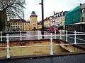 Valkenburg (L), Th Dorrenplein met gereconstrueerde Geulpoort, januari 2015-03.jpg