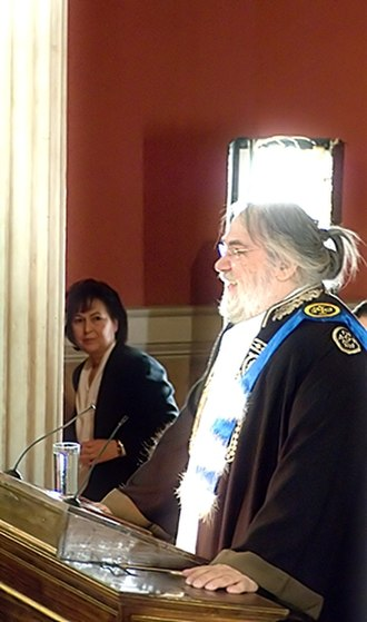 Vangelis - Vangelis Papathanassiou, as an Honorary Doctor of National and Kapodistrian University of Athens