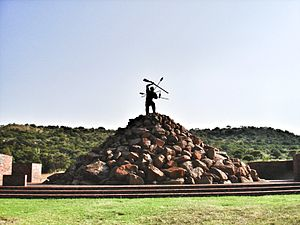 Battle of Vegkop - Vegkop Battlefield Monument outside of Heilbron