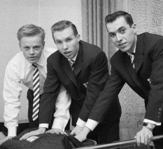 Juhani Kärkinen - L-r: Veikko Kankkonen, and Juhani and Kalevi Kärkinen in 1960