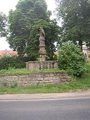 Statue of John of Nepomuk in Velvary