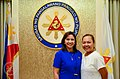 Vice President Leni Robredo and Dinagat Island Representative Kaka Bag-ao.jpg