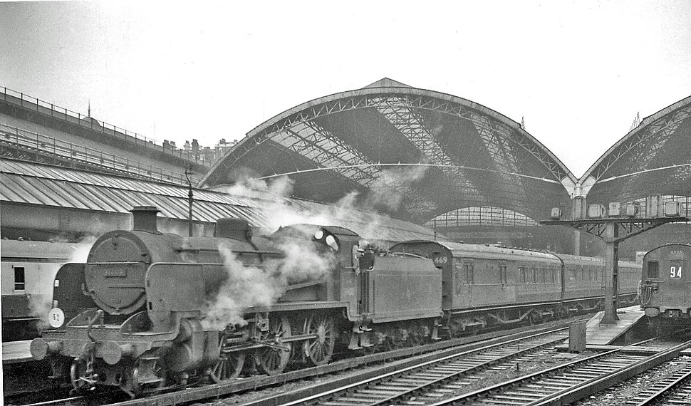 Victoria (Eastern Section) Station, with SR 2-6-0 working empty stock geograph-2638200-by-Ben-Brooksbank