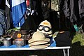Victory Show Cosby UK 06-09-2015 WW2 Trade stalls Misc. militaria personal gear replicas reprod. orig. zaphad1 Flickr CCBY2.0 Pith helmets goggles blaklavas caps etc IMG 3851.jpg